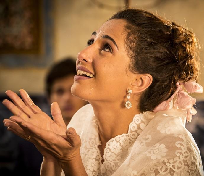Camila Pitanga emocionou a todos na pele de Tereza (Foto: Felipe Monteiro/ Gshow)