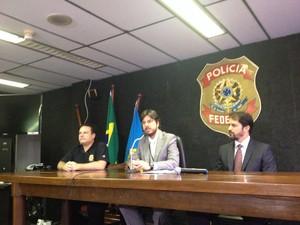 Opera��o foi deflagrada pela Pol�cia Federal nesta quinta (Foto: Juliana Almirante/ G1 BA)