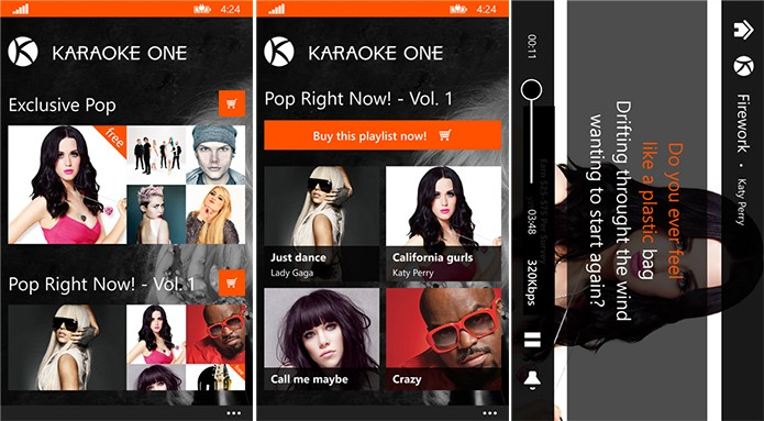 Karaoke One é um aplicativo de karaokê gratuito para Windows Phone (Foto: Divulgação/Windows Phone Store)