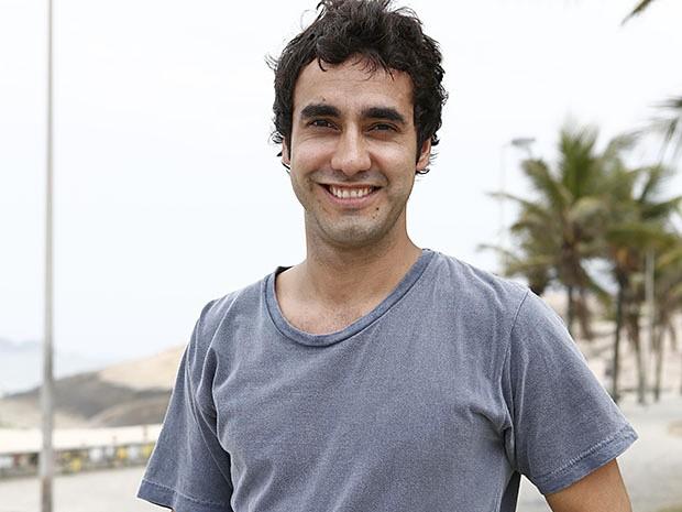 Gabriel Godoy confessa que ama gastronomia e futebol (Foto: Fábio Rocha / Gshow)
