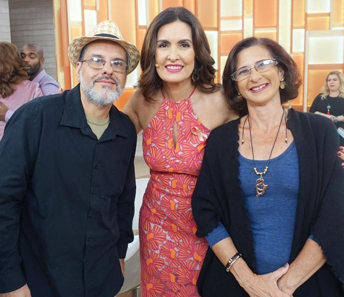 Fátima com convidados do programa (Foto: Juliana Hippertt/Gshow)