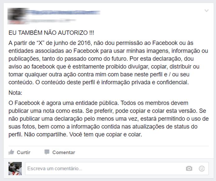Boato antigo ganha nova fórmula e volta a se espalhar pelo Facebook; evite (Foto: Reprodução/Filipe Garrett)