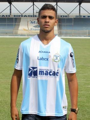 Mateus Guimarães, reforço do Macaé (Foto: Tiago Ferreira)