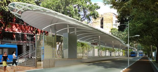 Estação BRT Central (Foto: Divulgação / BHTrans)
