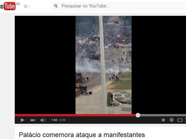 Vídeo mostra 'comemoração' na sede do Governo do Paraná após conflito (Foto: Reprodução)