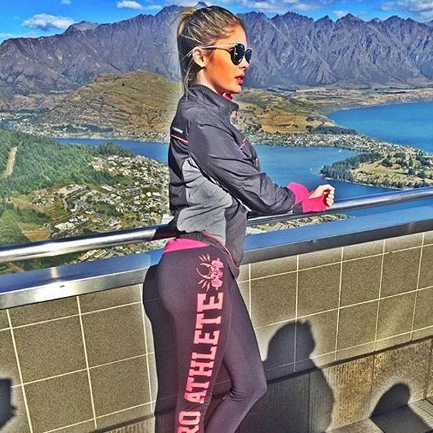 Bárbara Evans em Queenstown, na Nova Zelândia (Foto: Instagram/ Reprodução)