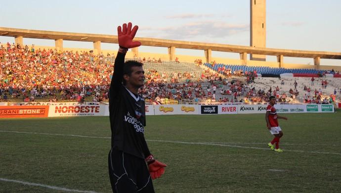Naylson, goleiro do River-PI (Foto: Abdias Bideh/GloboEsporte.com)