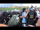 Grupos desmontam acampamento e deixam gramado do Congresso