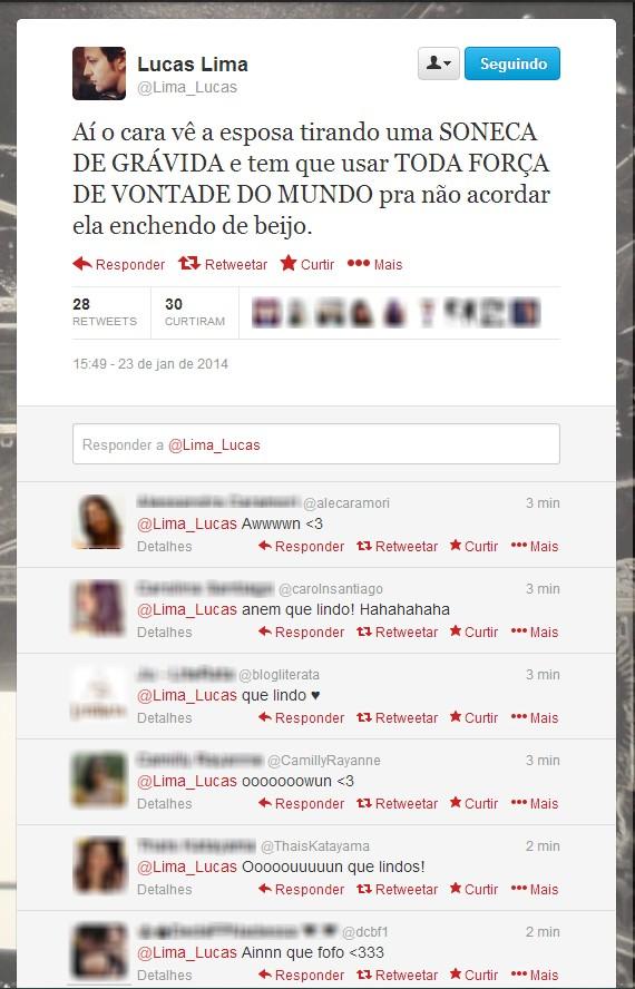 Tweet de Lucas Lima (Foto: Twitter / Reprodução)
