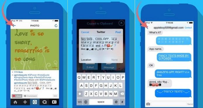 Fancy Texts Pro permite usar diversos estilos de fontes (Foto: Divulgação)