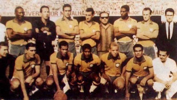 Pôster, especial Brasil x Uruguai em 1965 em Belo Horizonte (Foto: Divulgação / Arquivo Palmeiras)