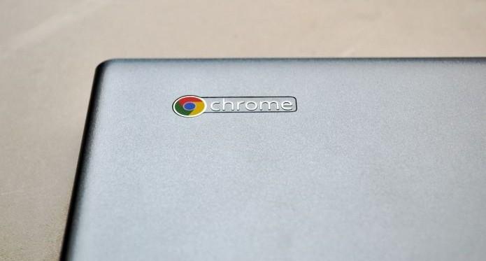 Logotipo do Chromebook chama atenção para o seu sistema operacional (Foto: Andréa Lagareiro) (Foto: Logotipo do Chromebook chama atenção para o seu sistema operacional (Foto: Andréa Lagareiro))