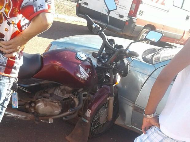 Acidente com motocicleta na região sul de Palmas (Foto: Divulgação)
