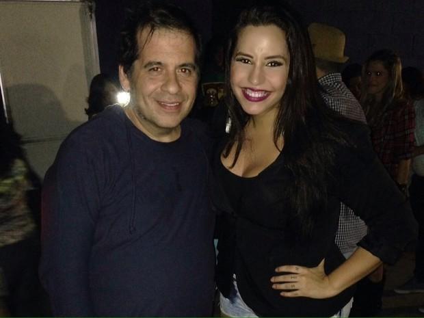 Leandro Hassum e Tathi Kiss em festa no Rio (Foto: Divulgação)