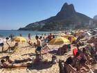 Rio tem praias cheias no sábado de sol e calor