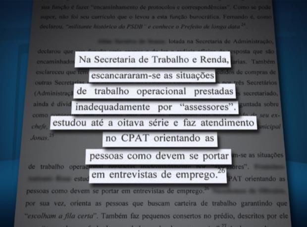 Caso citado em ação do MP sobre funcionário não adequado para a função na Prefeitura de Campinas (Foto: Reprodução / EPTV)