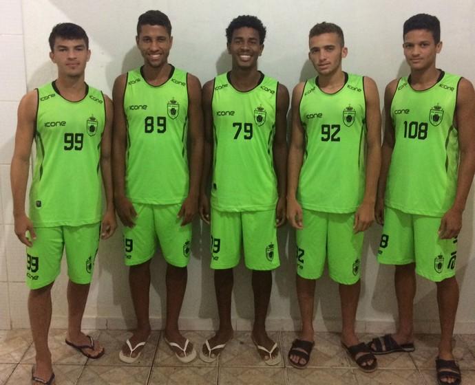 Alguns dos atletas do Serra que foram para o sub-20 do Real  (Foto: Divulgação/Arquivo Pessoal)