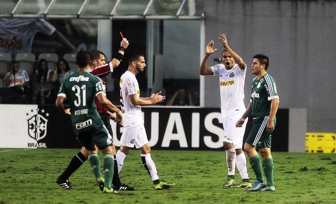 Palmeiras x Santos Cristaldo expulso (Foto: Marcos Ribolli)