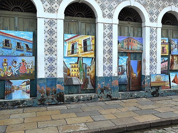 Encantos de São Luís (MA) são retratados em telas (Foto: Maurício Araya / G1)
