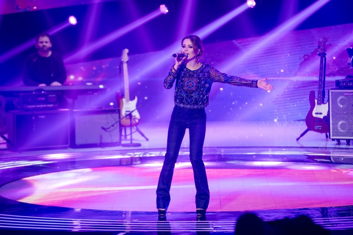 sandy top 16 palco (Foto: Fabiano Battaglin/Gshow)