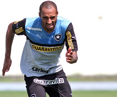 Bruno Correa no treino do Botafogo (Foto: Vitor Silva / SS Press)