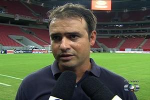 Sidney Moraes - técnico Vila Nova (Foto: Reprodução / TV Anhanguera)