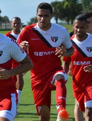 são paulo treino Orlando (Foto: Divulgação/Site oficial do São Paulo)