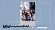 Polícia usa jato d'água e spray de pimenta para dispersar protesto de professores em BH