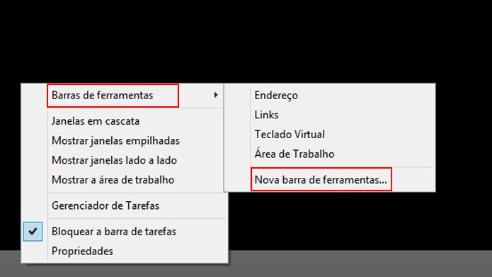 Ferramentas permitem adicionar funcionalidades diferentes à barra de tarefas (Foto: Reprodução/Windows)