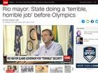 Paes diz que RJ fez 'trabalho terrível' na segurança em entrevista à CNN