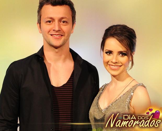 Sandy e o marido, Lucas, juntos em um evento e mostrando para o mundo o amor que os une (Foto: TV Globo)
