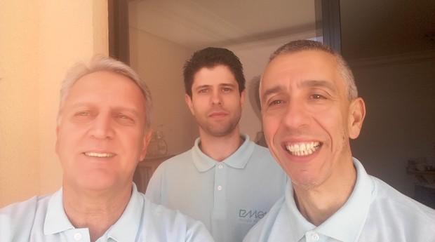 Silvino Amaro, Ricardo Silva e Cícero Ferreira, sócios da eMove (Foto: Divulgação)