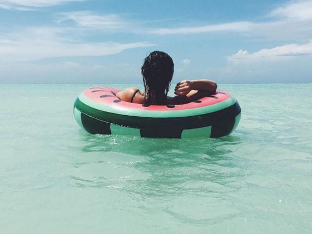 Bruna Marquezine em praia em Varadero, em Cuba (Foto: Instagram/ Reprodução)