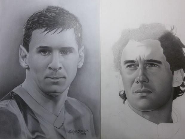Aos 15 anos artista pssou a se dedicar ao desenho realista (Foto: Jackson Felix/G1 RR)