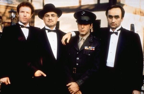 O elenco da trilogia 'O Poderoso Chefão'  (Foto: Reprodução)