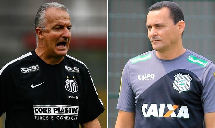 Montagem Dorival junior e Hudson Coutinho, Santos e Figueirense (Foto: GloboEsporte.com)