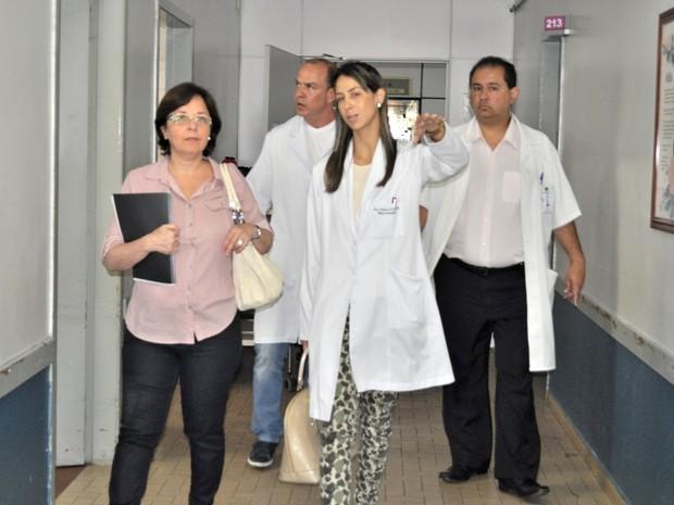 Avaliadores visitaram alguns setores do hospital  (Foto: Rubens Souza Cabral/ HSJD)