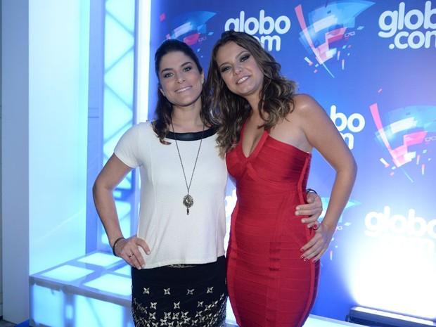 Priscila Fantin e Milena Toscano em evento em São Paulo (Foto: Francisco Cepeda/ Ag. News)