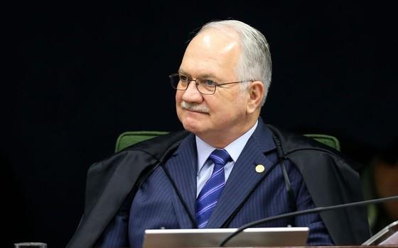 O ministro Luiz Edson Fachin participa de sessão da segunda turma do Supremo Tribunal Federal. (Foto: Marcelo Camargo/Agência Brasil)