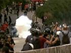 Uma pessoa segue detida após protesto contra aumento da tarifa