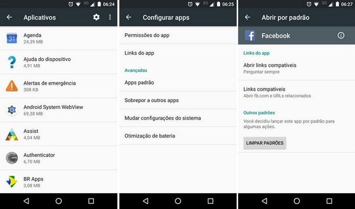 Usuário pode impedir que links abram aplicativos por padrão no Android (Foto: Reprodução/Raquel Freire)