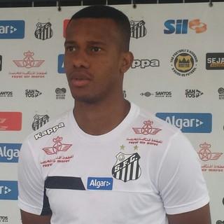 Jonathan Copete, Santos (Foto: Bruno Giufrida)