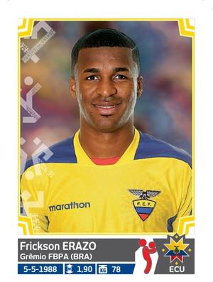 Álbum da Copa América - Erazo Equador