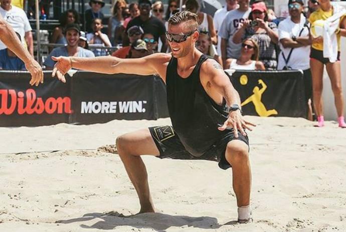 Quebra tudo, Casey Patterson! Americano é conhecido pelas dancinhas em quadra (Foto: Reprodução / AVP )