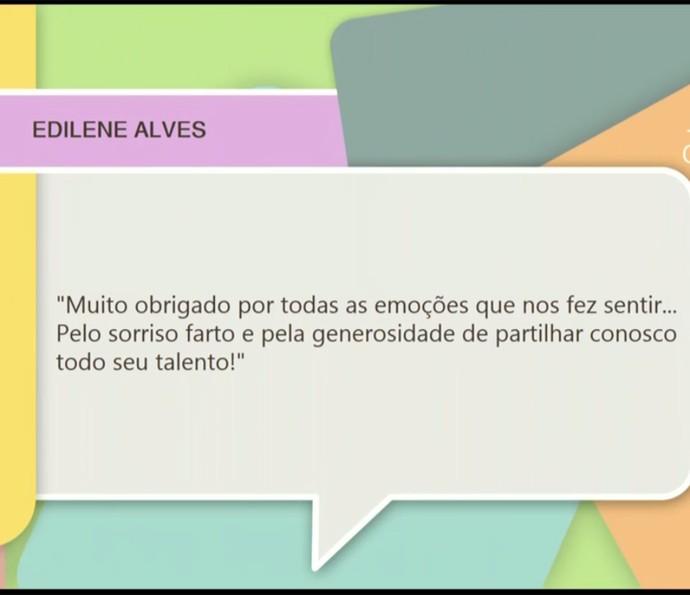 Mensagem de espectador para Domingos Montagner (Foto: TV Globo)