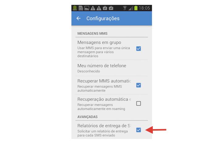 Ativando o relatório de recebimento de mensagens do Messenger do Google (Foto: Reprodução/Marvin Costa)