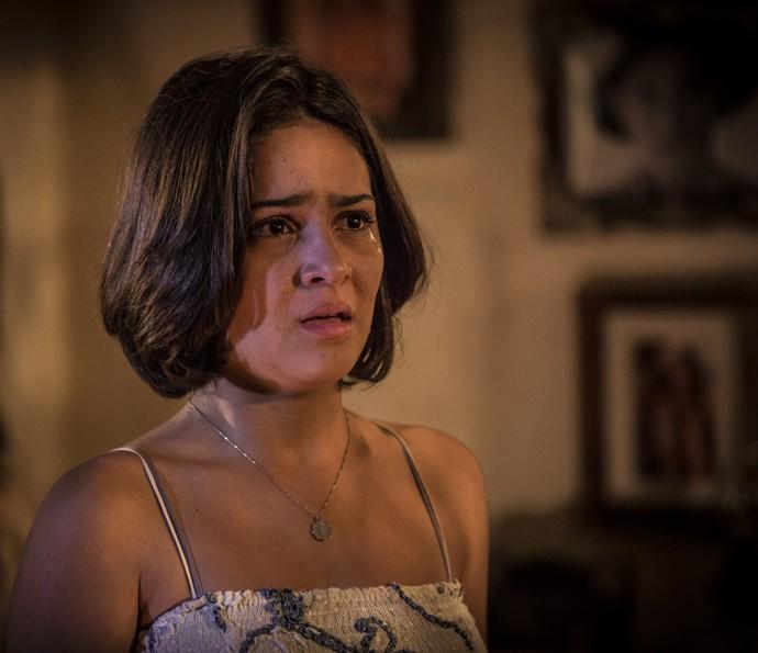 Olívia fica sem reação diante da decisão de Lucas (Foto: Inácio Moraes/ Gshow)