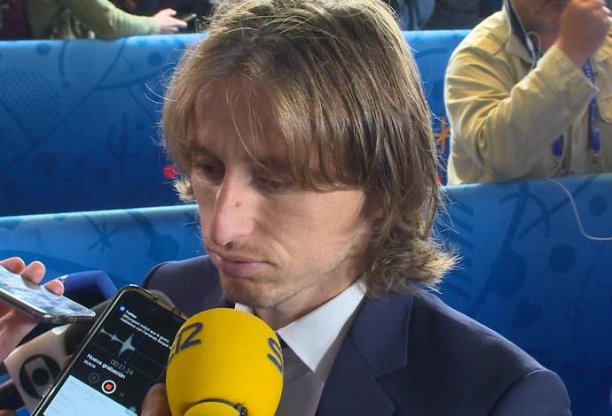 Modric abatido após eliminação da Croácia na Eurocopa (Foto: Ivan Raupp)
