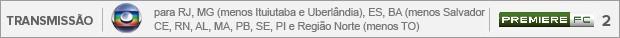 Header Transmissão Bahia x Flamengo - Globo para RJ, MG (menos Ituiutaba e Uberlândia), ES, BA (menos Salvador), CE, RN, AL, MA, PB, SE, PI e Região Norte (menos TO) - PremiereFC 2 (Foto: Editoria de Arte)
