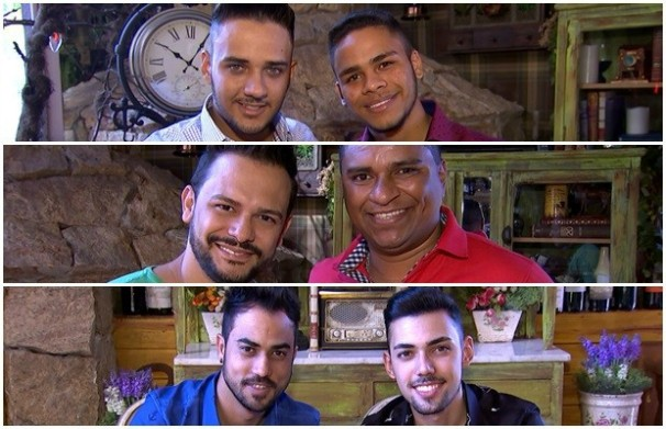 Jorge Augusto e Gustavo, Chico Júnior e Fabrício, Brunno e Felipe disputam vaga. (Foto: TV Anhanguera)